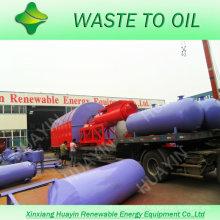 Conversion de déchets de plastique de 10 tonnes vers une usine de mazout