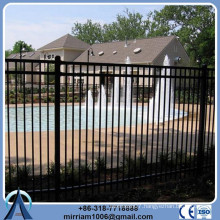 Powder coating wrought iron wall fence