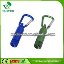 12000-15000MCD carabiner de aluminio mini linterna led
