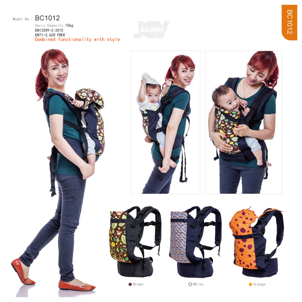 Fashion Dot Printing Baby Carrier With Cap