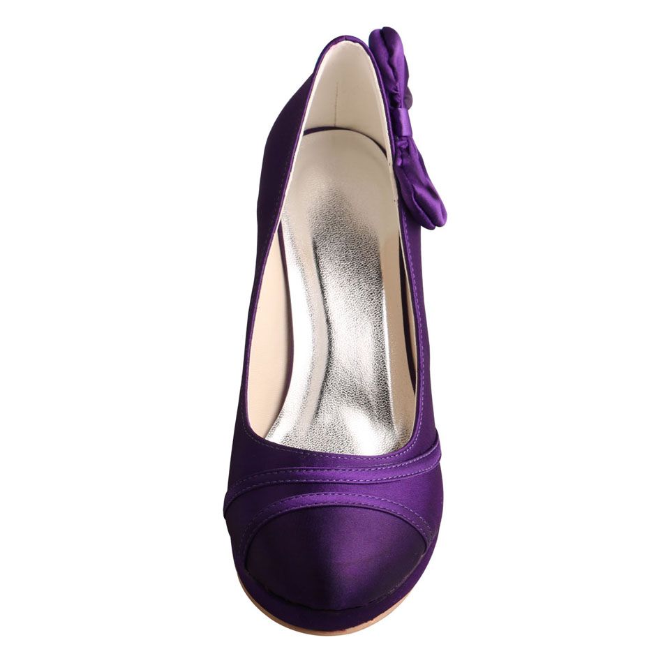 Evening Shoes Purple Satin
