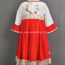 boutique lace embroidery kids elegant flower girl dresses