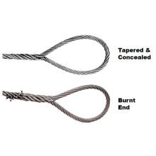 Eslinga de cuerda de alambre empalmada a mano de una pieza
