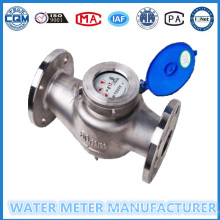 Dn65mm 304 Flange de aço inoxidável Woltman Water Meter