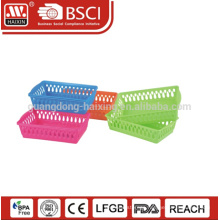 Hot sales wide use with simple design plastic utility basket