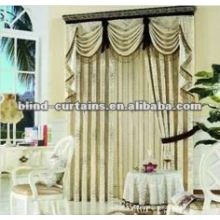 Beau tissu jacquard en rideau prêt-à-porter