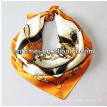 Pretty printed silk hijab scarf