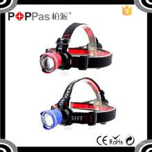 Poppas T85 faróis de alta potência caça faróis Camping Head tocha luz lanterna farol