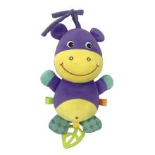 Brinquedo de bebê musical de hipopótamo