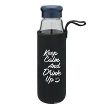 Портативный стеклянная бутылка воды с защитной сумке 470 мл