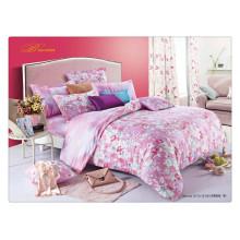 Floral luxury 40s 128*68 pigment printing 100% cotton bedding duvet set