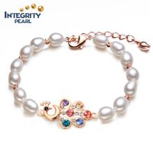 White Freshwater Pearl Bracelet AAA 6-7mm Rice Freshwater Pearl Bracelet Wholesale