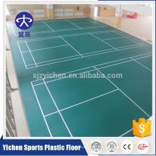 Hochwertige umweltfreundliche Indoor-Sportplatz Vinylboden, Badminton, Volleyball-Bodenmatte