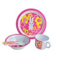 5PCS melamina Kids Dinnerware Set