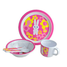 5PCS melamina Kids Dinnerware Set