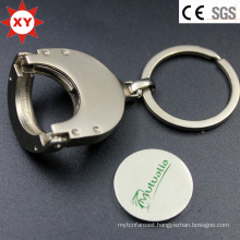 Metal Foldable Shopping Cart Trolley Coin Keychain Keyring