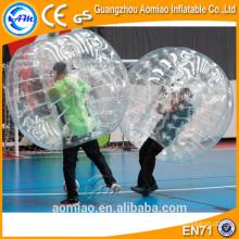Boule de bulle à bulle de verre clair et fougueux, ballon à bulle gonflable gonflable humain