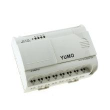 Fuente de alimentación CC 12-24V Yumo Af-20mr-D2 Entrada de CC 12 puntos (analógica) Salida de relé de 8 puntos Micro PLC Sistema autómata alarma PLC