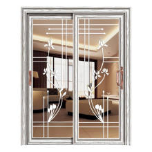 foshan modern house aluminum sliding door with hollow tempered glass