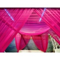 Mosquiteras Princess Bed Canopy Rose Red