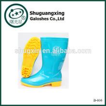 Regen Gummistiefel für Damen Fashion Stiefel PVC Regenstiefel Damen Gummistiefel B-806