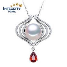 925 Серебряная жемчужина ожерелье 10-11 мм AAA полукруглая Perfect Pearl подвеска конструкций