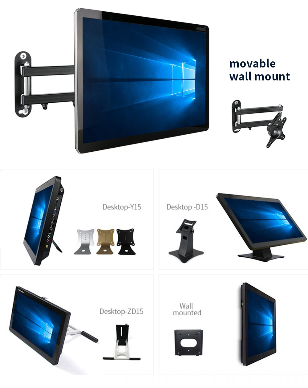 wall mount all in one pc