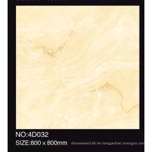 600X600mm voll polierte beige Farbe glasierte Porzellanfliese