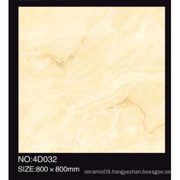 600X600mm Full Polished Beige Color Glazed Porcelain Tile