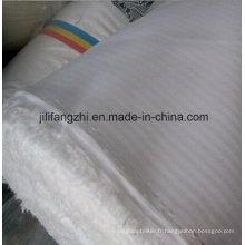Tissu Tc / Interlining / Tissu / Blanc / Tissé / Herringbone
