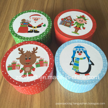 New Christmas Round Gift Boxes Small Round Paper Gift Box