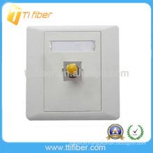 Single Port ST Fiber Optic Faceplate/Wall Plate