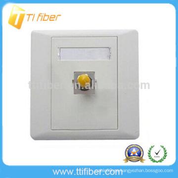 Placa Frontal / placa de pared de fibra óptica ST de un solo puerto