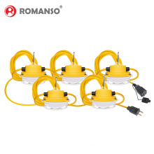 ROMANSO Five-year high quality warranty 50ft 100ft LED String Work light 40w 80w construction temporary light string lighting