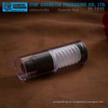 ZB-LQ15 15ml interessante projeto airless mecanismo especial 15ml empilhável tubo alumínio bomba airless bottle