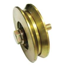 Rueda de tornillo simple, polea de puerta industrial, rueda, Al-D050