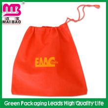 Bolsos de compras reutilizables de calidad superior no tejido bolsa de cordón