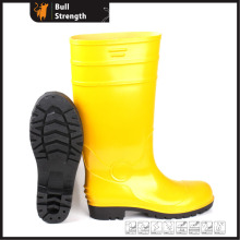 Yellow PVC Upper Safety Rain Boot with Steel Toe (SN5125)