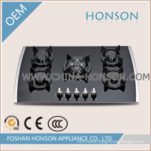 Good Quality New Design Tempered Glass Gas Hobs