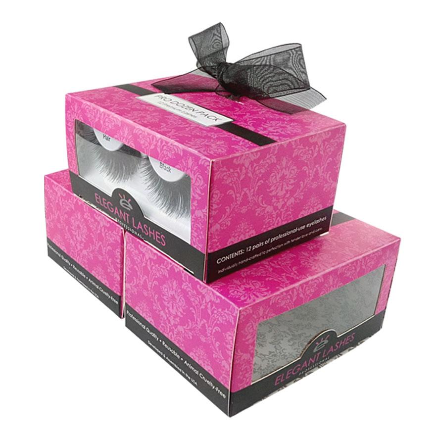 eyelashes box with pvc