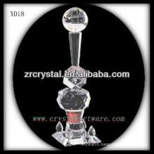 attractive design blank crystal trophy X018