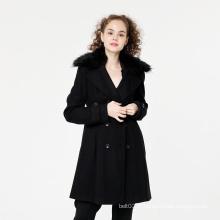 Nouveau manteau de col de fourrure de filles d'hiver de mode