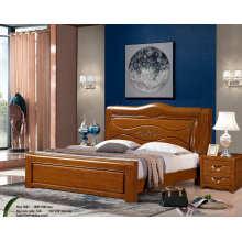 Cama de Hotel, China muebles de dormitorio, cama de madera (9086)