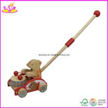 Jouet poussoir en bois de marche de bébé (W05A007)