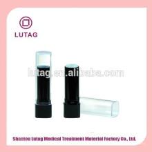Tubo de plástico vazia batom embalagem cosmético