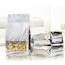 Transparent Foil Aluminium Custom Food Packaging Bag Snack Packaging Bag with Clear Window