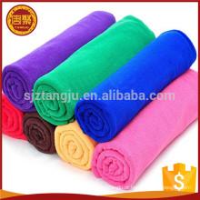 Planície colorido tingido lavável de malha de urdidura limpar microfibra toalha de refrigeração