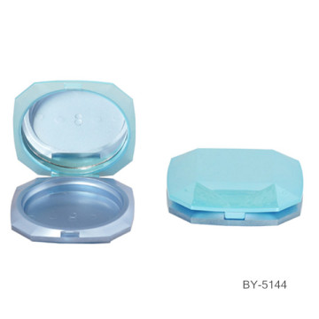 Diamond Blue Green Compact Powder Container