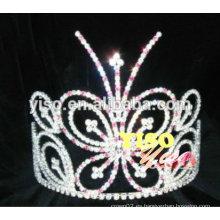 Tiaras de diamantes de imitación mariposa de moda de colores