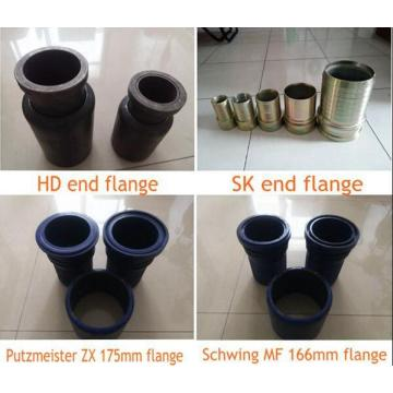 Concrete pump hose ending collar